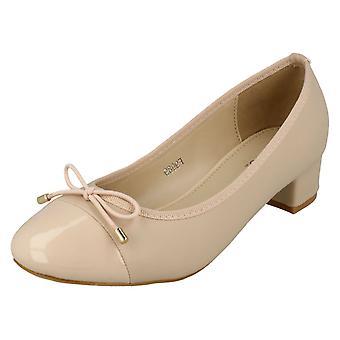Spot de senhoras em meados tribunal calcanhar sapatos F9989