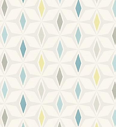 Retro Wallpaper Vintage Geometric Stars Shapes Textured White Multicoloured