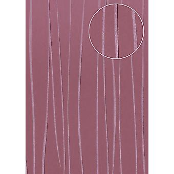 Fine stripe wallpaper Atlas COL-568-8 non-woven wallpaper smooth design shimmering purple red purple pastel violet 5.33 m2