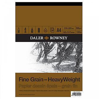 Daler Rowney Fine Grain Heavyweight Gummed Pad A4