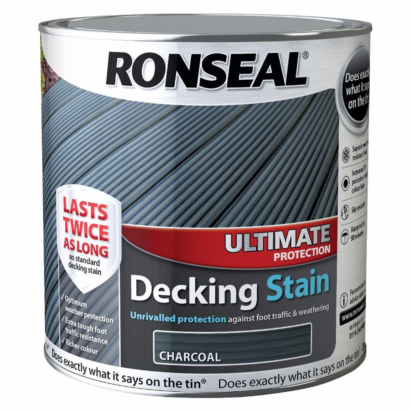 Ronseal 2.5L Ultimate Protection Decking Stain - Charcoal