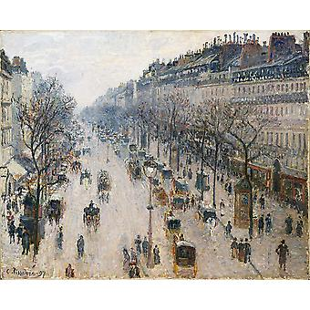 Camille Pissarro - Boulevard Montmartre busy Poster Print Giclee