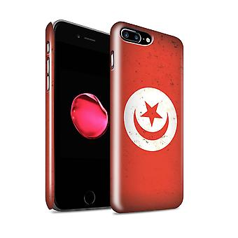 STUFF4 glans terug Snap-On telefoon Hardcase voor de Apple iPhone 7 Plus / Tunesië/Tunesische Design / Afrikaanse vlag collectie