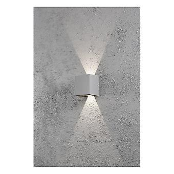 Konstsmide Cermona White Square Wall Washer Porch Light