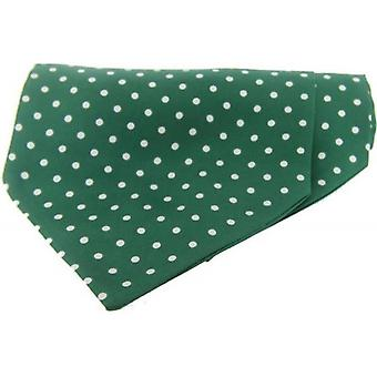 David Van Hagen Polka Dot Silk Twill Cravat - Green/White
