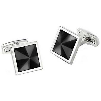 Duncan Walton Masson Luxury Rhodium Plated Cufflinks - Grey