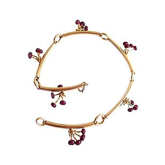 Ruby bracelet Ruby bracelet red gold plated bracelets