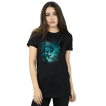 Harry Potter Women's Voldemort Dark Mark Mist Boyfriend Fit T-Shirt