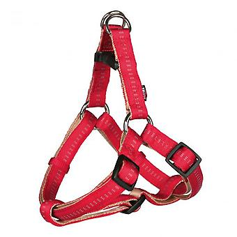 Trixie Harness One Touch Soft Eleganece Red and Beige