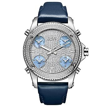 JBW gentlemen 1.36 ct diamond watch - JET SETTER silver / navy