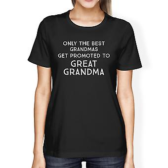 Promoted To Great Grandma Gift Tshirt For In-Law Womens Cotton Tee