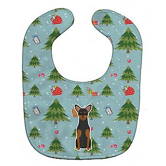 Carolines Treasures  BB4688BIB Christmas Manchester Terrier Baby Bib