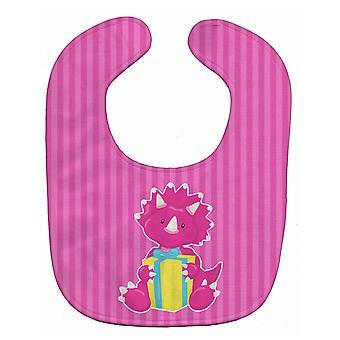 Carolines Treasures  BB8924BIB Dinosaur Pink Baby Bib
