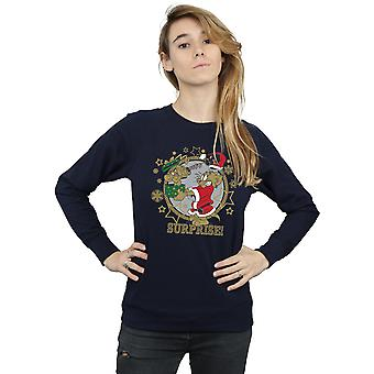 Tom And Jerry Women's Christmas Surprise Sweatshirt