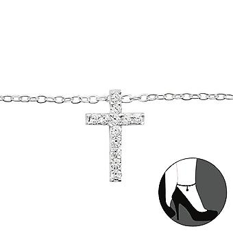 Cross - 925 Sterling Silver Anklets - W27642x