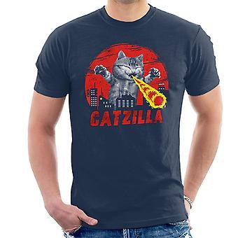 Catzilla Godzilla Parody Men's T-Shirt