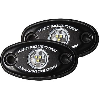 Rigid Industries 48208 A-Series Natural White Strength LED Light with Frame, (Set of 2)