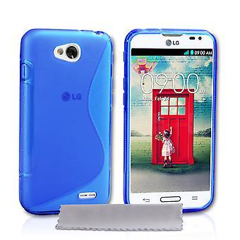 Caseflex LG L90 silikonowy żel S-Line Case - niebieski