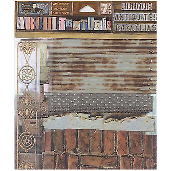 7 Gypsies Architextures Junque Adhesive Embellishments Pack-Warehouse 7GAJ-25035