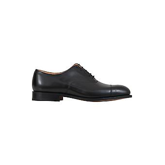 Church's men's EE003B9XVAAB black leather lace-up shoes
