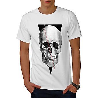 Coole Totenkopf Männer WhiteT-t-Shirt   Wellcoda