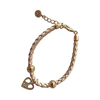 Braided Leather Bracelet With Silver Pendant As0086