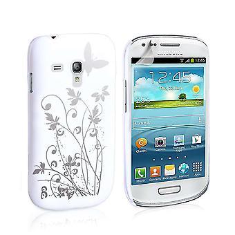 Yousave accesorios Samsung Galaxy Note 2 mariposa IMD caso - blanco