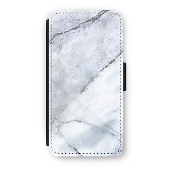 iPhone 7 Plus Flip Case - Marble white