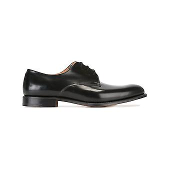Church's men's EEB0289XVAAB black leather lace-up shoes