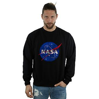 NASA Men's Classic Insignia Logo Distressed Sweatshirt