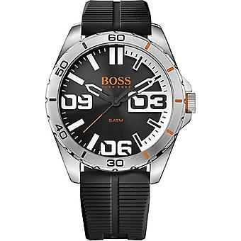Hugo Boss Orange Berlin Black Silicone Strap Men's Watch