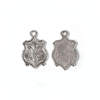 Packet 15 x Antique Silver Tibetan 24mm Fleur De Lis Charm/Pendant ZX13705