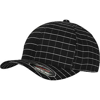 Flexfit Yupoong Mens Square Check 6 Panel athletische Permacurve GAP