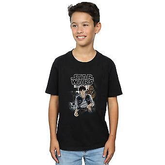 Star Wars Boys Han And Chewie Anime T-Shirt