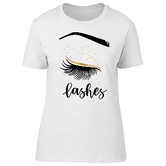 Lashes Drawing With Modern Word Tee Women's -Image by Shutterstock