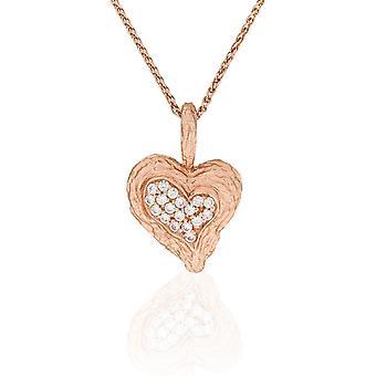 Catena di Orphelia argento 925 con ciondolo cuore Rosegold placcato zirconio ZH-7082/1
