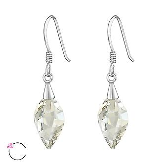 Twisted Drop crystal from Swarovski® - 925 Sterling Silver Earrings