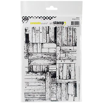 Carabelle Studio Cling Stamp A5-Background Wood
