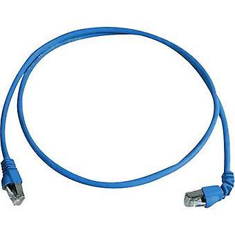 Telegärtner RJ45 Networks Cable CAT 6A S/FTP 1 m Blue Flame-retardant, Halogen-free
