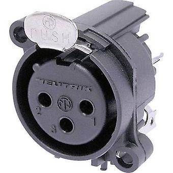 XLR connector Sleeve socket, straight pins Number of pins: 3 Black Neutrik NC3FAAV1 1 pc(s)