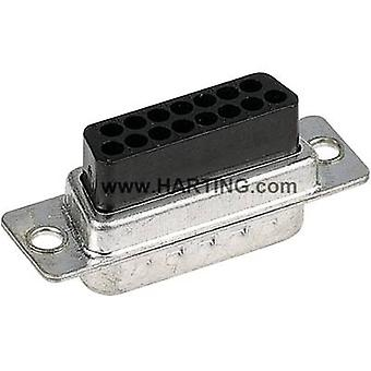 Harting 09 67 050 4701 D-SUB receptacles 180 ° Number of pins: 50 Crimp 1 pc(s)