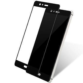 Huawei Honor 9 3D Panzer Glas Folie Display 9H Schutzfolie Hüllen Case Schwarz