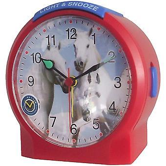Atlanta 1189/1 alarm clock kids alarm clock horse red quiet horse alarm clock for kids
