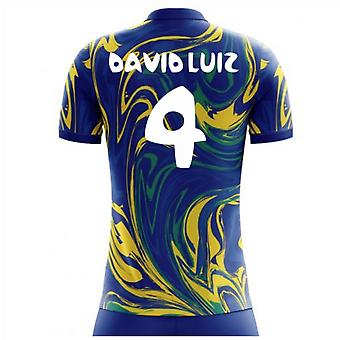 2018-19 Brasilien Away Konzept Hemd (David Luiz 4) - Kinder