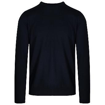 Lagerfeld Lagerfeld Navy Blue Knitted Wool Jumper