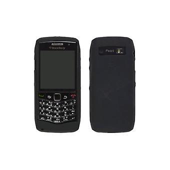 OEM BlackBerry Pearl 3 g 9100 9105 gummibelagt silikone hud tilfældet, sort