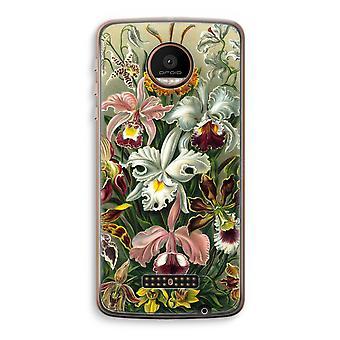 Motorola Moto Z Force Transparent Case (Soft) - Haeckel Orchidae