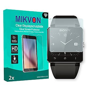 Sony SmartWatch 2 Screen Protector - Mikvon Clear (Retail Package with accessories)