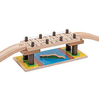 Bigjigs Holz Eisenbahn-Safari-Hängebrücke