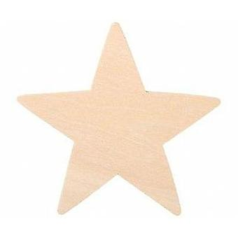 9cm Flat Wooden Star Shape | Wooden Shapes for Crafts